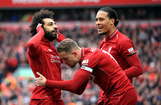 Mane and Salah on target against Chelsea as Liverpool keep title chase alive and kicking