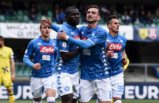 Koulibaly scores twice as Napoli delay Juventus' title celebrations