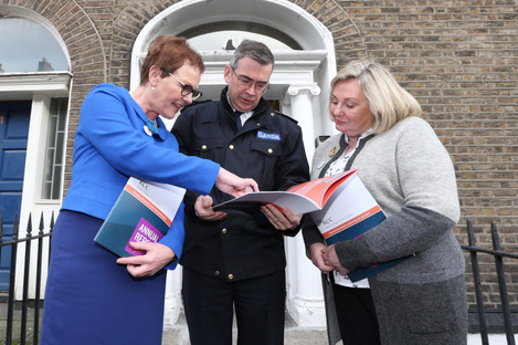 Noeline Blackwell with Garda Commissioner Drew Harris
