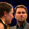 Hearn keen to ensure Serrano doesn't 'wriggle' out of women's superfight with Taylor