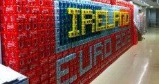 Here's your 'Euro 2012 banner built entirely of fizzy drinks cans' picture of the day