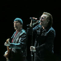 Quiz: Which famous person is pictured with Bono here?
