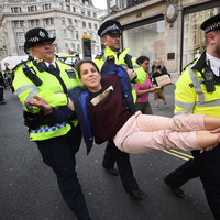 'Extinction Rebellion': London climate change protests enter fourth day