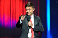 Incumbent Ukrainian president pleads for support as comedian looks set to win the presidency
