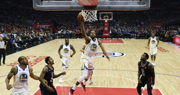 Kevin Durant too hot to handle as Warriors thump Clippers in Game Three