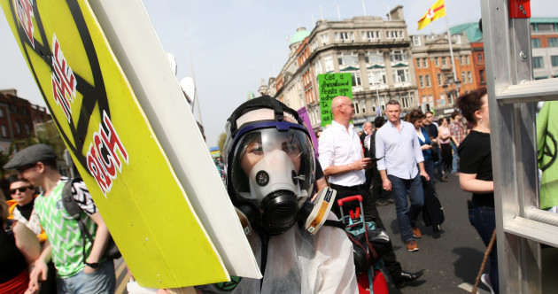 'This is an emergency': Extinction Rebellion comes to Dublin as sit-down protest blocks O'Connell Street