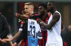 AC Milan fined €86,000 after players paraded opponent's shirt like a trophy