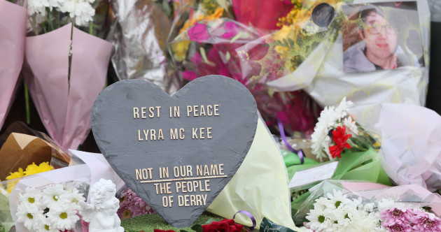 Vigils take place in Dublin, Belfast, and Derry in memory of journalist Lyra McKee