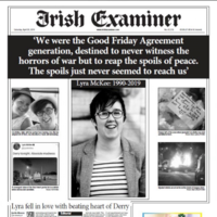 'Murdered by cowards': Ireland's front pages unite in mourning for Lyra McKee