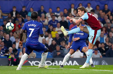Watch: Jeff Hendrick's sublime volley gave Burnley the lead at Stamford Bridge