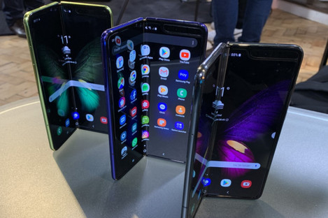 A file photo dated of the new Samsung Galaxy Fold.