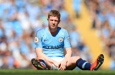 Blow for City as De Bruyne ruled out of crucial Manchester derby