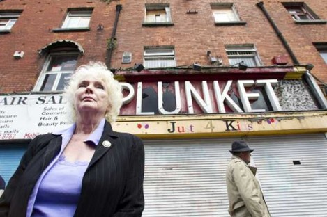 Actress Fionnuala Flanagan has lent her support to the call to preserve the Moore Street building (pictured) that was the HQ for the 1916 rising.