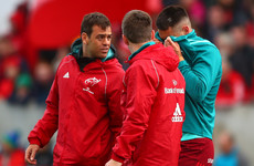Conor Murray ruled out for Munster after taking knock during warm-up