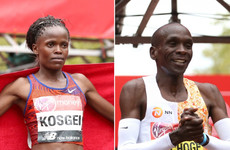 Kenyan duo Kipchoge and Kosgei win London Marathon as Mo Farah finishes fifth
