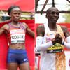 Kenyan duo Kipchoge and Kosgei win London Marathon as Mo Farah finishes fifth