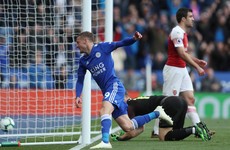 Vardy double deals Arsenal's Champions League hopes another blow