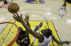 Durant-led Warriors edge Rockets as Celtics baffle Bucks in NBA playoffs