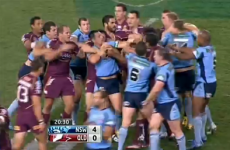 It only took 20 minutes for State of Origin to turn into a fistfight