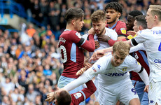 Leeds' Bamford charged by FA for deception of referee as Villa's El Ghazi has red card rescinded