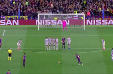 Relive Lionel Messi's sublime 30 yard free-kick against Liverpool in tonight's Champions League semi-final