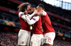 Lacazette on the double as Arsenal take massive step towards Europa League final