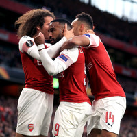 Lacazette on the double as Arsenal take massive step towards Europa League final