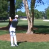 Rory McIlroy hits incredible shot on the way to a share of the lead at Wells Fargo