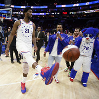 Joel Embiid puts up another double-double as 76ers stun Raptors