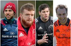 Williams, Sherry, Hart and O'Callaghan to leave Munster at end of season