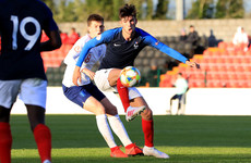 France side featuring Theo Zidane earn a draw against England in Longford