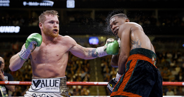 Canelo Alvarez unifies middleweight titles with unanimous points win over Jacobs