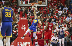 Botched dunk the low point of Curry's off night as Rockets take game 3 win