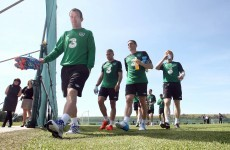 Glenn Whelan sits out training... with a sore throat