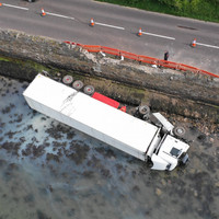 Man arrested in Waterford after truck he was driving crashes into sea