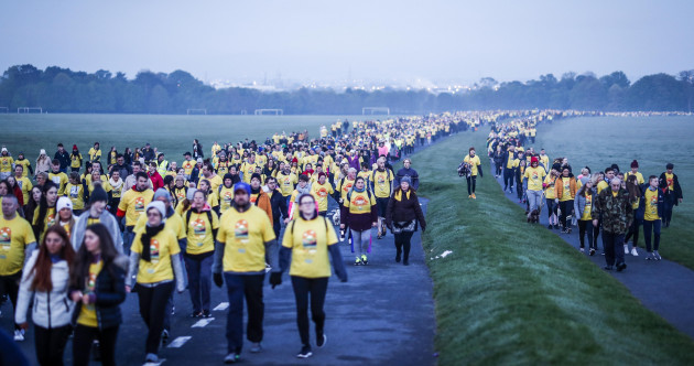 Thousands of people across the country walked from Darkness into Light this morning