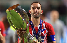 Atletico Madrid captain Godin leaving after nine years at the club