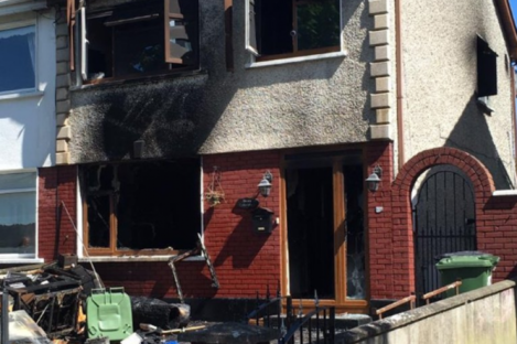 The arson attack on this house is believed to be connected to the gang feud.