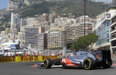 Button fastest in rain-hit Monaco practice