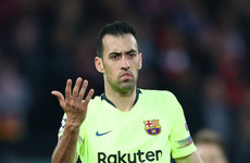 Sergio Busquets issues apology to Barcelona fans