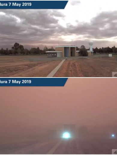 From daytime to midnight in minutes: Massive dust storm engulfs Australian town