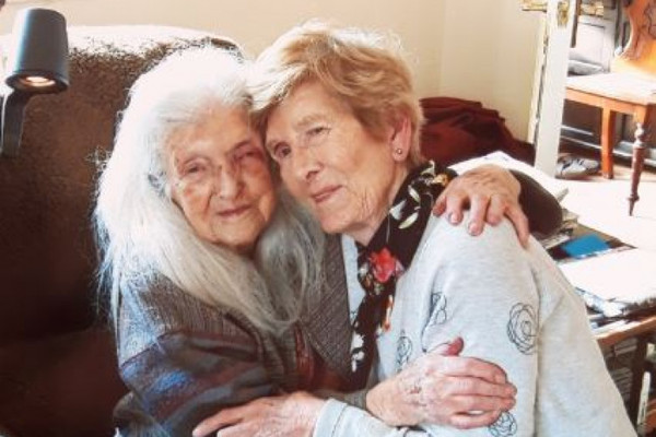 Image result for Mum, 103, meets daughter, 81, for first time