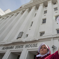 Row breaks out in Alabama senate over 'foetal heartbeat' abortion law