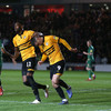 Late Amond goal salvages first-leg play-off draw for Newport