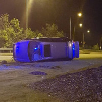 Car flips after being caught traveling at 133km/h in Naas