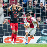 Ajax bounce back from European heartbreak to claim Eredivisie top spot with one game left