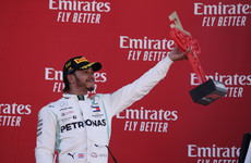 Hamilton wins in Spain to take championship lead