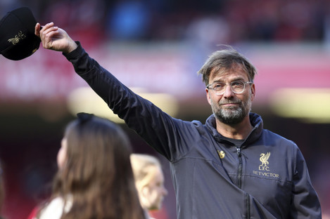 Jurgen Klopp pictured after the final whistle.