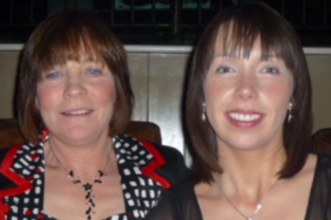 Photo of Clodagh Hawe with her mother Mary.