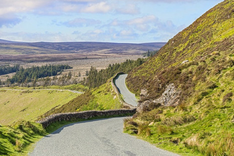 Driving through the Wicklow Mountains.